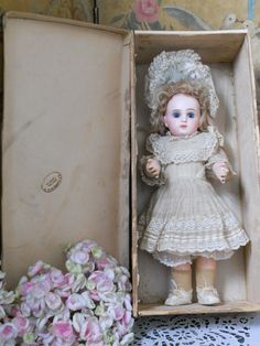~~~ Superb French Bisque BeBe with Original Costume in Box ~~~ from whendreamscometrue on Ruby Lane