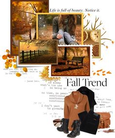 """""""Autumn is a second spring when every leaf is a flower."""" by dreaming-incredible-dreams ❤ liked on Polyvore"""