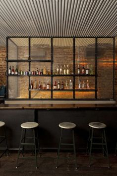 industrial interior design bar - Google Search