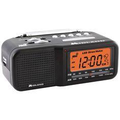 Midland 7-channel Desktop Alarm Clock And Weather Alert Radio With Am And Fm Radio