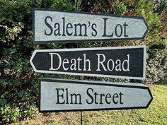 Halloween Sign Prop Decoration Elm Street Salem's Lot Death Road Evil Soul Studios
