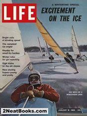 Iceboating  life magazine cover: 19 Jan 1962