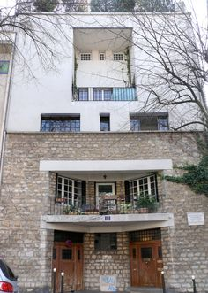 Adolf Loos-Paris, The house of Tristan Tzara, 1926-The modern-style house was built in 1926 by Austrian architect Adolf Loos for the poet & writer Tristan Tzara – founding father of Dadaism – and his wife, the painter, Knitson. The rigidly functionalist Maison Tristan Tzara, built in Montmartre, was designed following Tzara's specific requirements and decorated with samples of African art. It was Loos' only major contribution in his Parisian years.
