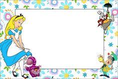 Fazendo a Minha Festa!: Alice no País das Maravilhas Disney - Kit Completo com molduras para convites, rótulos para guloseimas, lembrancinhas e imagens!
