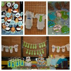 Little Man themes Baby Shower