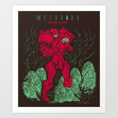 Metroids Art Print by MeleeNinja - $14.56