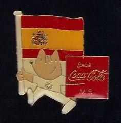 BARCELONA 1992 WORLD SUMMER OLYMPIC GAMES COCA COLA OFFICIAL MASCOT PIN    eBay