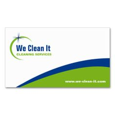 Cleaning Service Business Card. Make your own business card with this great design. All you need is to add your info to this template. Click the image to try it out!