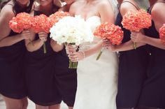 A Happy Navy Blue & Coral Wedding at Fountain Square Theater in
