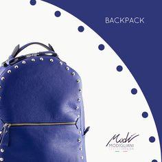 Zaino in pelle bottolata blu e perimetro borchiato. Guardalo qui! -> http://www.modi-fashion.com/prodotto/zaino-pelle-borchiata-blu/ #modì #modiglianileatherdesign #leatherdesign #handmade #madeinitaly #handmadeinitaly #bag #bags #fashion #clothing #fashionable #instafashion #swag #swagger #model #style #musthave #fashiondiaries #ootd #accessories #tagstagramers #tagsta #tagsta_fashion #borsa #fashionblogger #artigianato #zaino #streetstyle