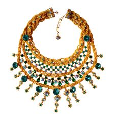 1960s Countess Zoltowska - CIS Haute Couture Necklace   From a unique collection of vintage multi-strand necklaces at http://www.1stdibs.com/jewelry/necklaces/multi-strand-necklaces/