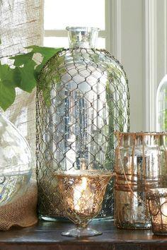 Troy Bottles - Decorative Bottles, Mercury Glass Bottles, Display Bottles | Soft Surroundings