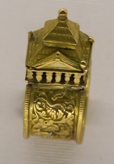 Jewish wedding ring western europe 16th-17th c. This work is courtesy of The Antique Jewelry University