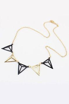 This necklace crafted in alloy, featuring pyramid shaped pendant, classic and fashionable, it makes you the most fashion one in this season.$8.25