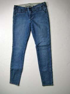"STITCH'S Medium Blue Grass Skinny Leg ""Moccasin"" Denim Jean Size 29 #Stitchs #SkinnyStraight"