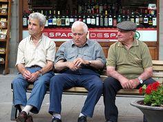 Cute elderly Italian men