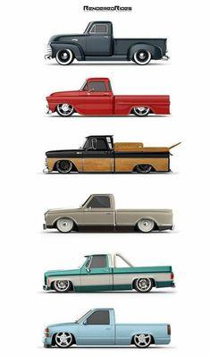 (notitle) - auto´s - - Just black - superschnelle Autos Bagged Trucks, Lowered Trucks, Gm Trucks, Cool Trucks, Dually Trucks, Custom Chevy Trucks, Chevy Pickup Trucks, Chevrolet Trucks, Best Pickup Truck