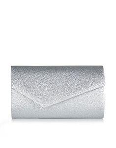 Glitter Asymmetric Clutch Bag | Silver | Accessorize Silver Clutch, Clutch Bag, Women's Accessories, Clutches, Bags, Glitter, Jewelry, Handbags, Jewlery