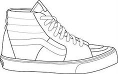 Collection of Vans Hi Drawing . Flat Sketches, Shoe Sketches, Fashion Sketches, Van Drawing, Shoe Drawing, Basket Vans, Tenis Vans, Vans Sk8, Sneakers Sketch