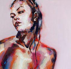 1-3-15 figure, oil on canvas, 90x90cm