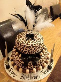 2 Tier Leopard Print Cake for auntie! Cheetah Cakes, Leopard Cake, Leopard Print Cakes, Leopard Party, Pink Leopard, Cheetah Print, Beautiful Cakes, Amazing Cakes, Fondant Cakes