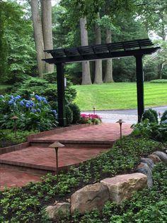 New walkway entrance Japanese Gate, Arbors Trellis, Plant Propagation, Asian Garden, Japanese Interior, Walkways, Black Trim, Backyards, Garden Bridge