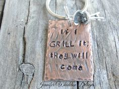 Dad's Key Chain    Hand Stamped Key Chain  Father's by Jlwhiddon,