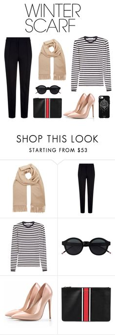 """""""Winter scraf"""" by tiwik ❤ liked on Polyvore featuring MaxMara, Escada Sport, Givenchy, Fifth & Ninth and winterscarf"""