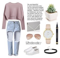 """Street Style Fashion Girl"" by lee77 ❤ liked on Polyvore featuring Chicnova Fashion, H&M, Givenchy, Kate Spade and Yves Saint Laurent"
