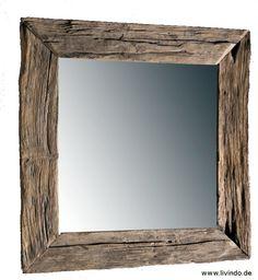 """Wandspiegel """"500"""" Alt Holz Eiche USED -500 Jahre - von www_livindo_de auf DaWanda.com"""