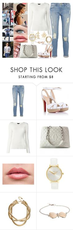 """""""Day 2 - Late dinner at the Hotel"""" by shama25237 ❤ liked on Polyvore featuring Frame Denim, Christian Louboutin, Chanel, Alba Botanica, Nixon, ASOS, And Mary, Marianne Dulong, women's clothing and women's fashion"""
