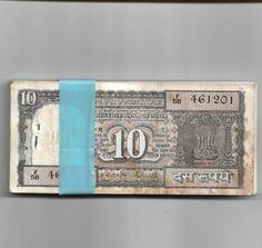 10 RUPEE ~ R.N.MALHOTRA ( BOAT ON BACK ) ~ 100 NOTE BUNDLE ~ W-3 Old Coins For Sale, Note Paper, The 100, Boat, Notes, Places, Dinghy, Report Cards, Boats