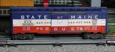 Lionel postwar # 3494-275 State of Maine operating boxcar.
