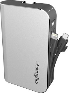 myCharge - Hubxtra 4400 mAh Portable Charger for Most Lightning-Equipped Apple® Devices - Gray