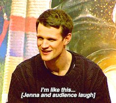 Matt Smith commenting on his facial expression at the end of the Day of the Doctor. He is too adorable for his own good.