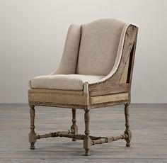 Deconstructed Slope Arm Dining Chair Belgian Linen Sand #restorationhardware