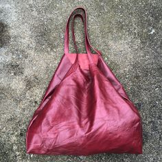 Rich Cranberry Mega Tote by TreeFairfax on Etsy