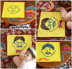 DIY: Face Mat for Kids (Make a mat, fabric paint a face, make accessories for the face out of felt)