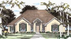 This 1 story European features 2457 sq feet. Call us at 866-214-2242 to talk to a House Plan Specialist about your future dream home!