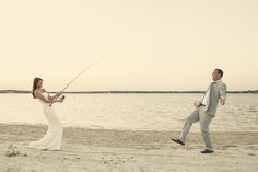 This is me Fishing for my husband kile Fishing wedding