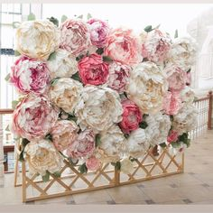 A serious ROSE litter is ahead with P - Paper Flower Backdrop Wedding Paper Flower Decor, Large Paper Flowers, Tissue Paper Flowers, Giant Paper Flowers, Diy Flowers, Flower Decorations, Paper Flower Backdrop Wedding, Flower Wall Wedding, Flower Wall Backdrop