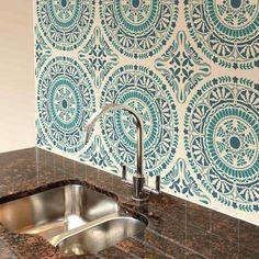 Spanish-tile-damask-stencil-majolica-tapas-plate-portuguese-tiles-wallpaper