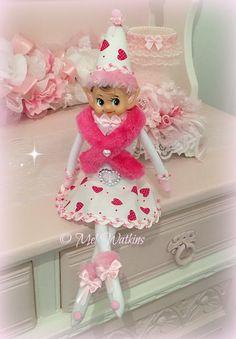 My New Design! Pink Valentine's Day elf - Pink Knee hugger - Vintage Pink - © Mel Watkins - My Creations - Pink Valentine <3 <3