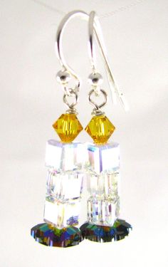 Swarovski Crystal Candle Earrings