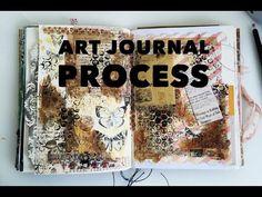 Art Journal Page Process (03) - YouTube