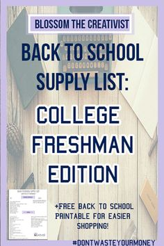 What you do not need on your college school supplies list  #college #school #supplies Back To School Highschool, School Supplies Highschool, College School Supplies, High School, Back To School Supplies List, School Supplies Organization, School Ideas, School Hacks, College List