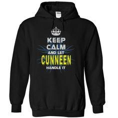 (Tshirt Top Deals) KeepCalmNew Keep Calm And Let CUNNEEN Handle It Teeshirt this week Hoodies, Funny Tee Shirts