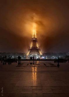 Foggy Night - Paris, France