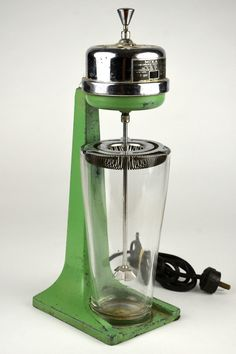 Vintage Mixall Mixer Blender Chronmaster Electric Corp Kitchen Appliance Green | eBay $58.00