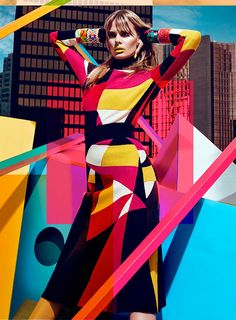 Model Jessiann Gravel embraces bold color and print in the latest issue of Canada's FASHION Magazine. Posing for Chris Nicholls, the blonde gets decked out in looks from the fall collections of Moschino, Versace and more top brands styled by Zeina Esmail. Against a city backdrop, Jessian pops even more so with lipstick in shades... [Read More]